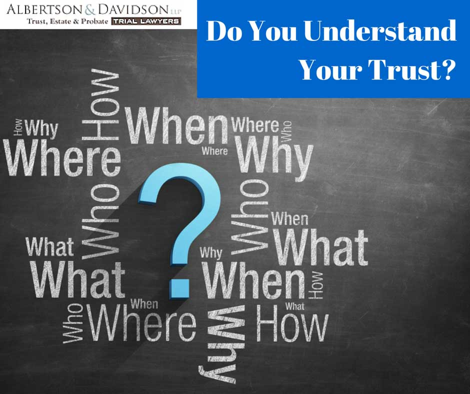 Do YOu Understand your trust?