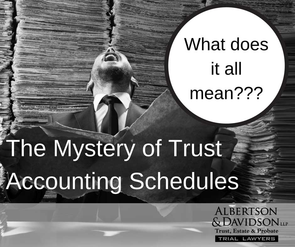 The Mystery of Accounting Schedules
