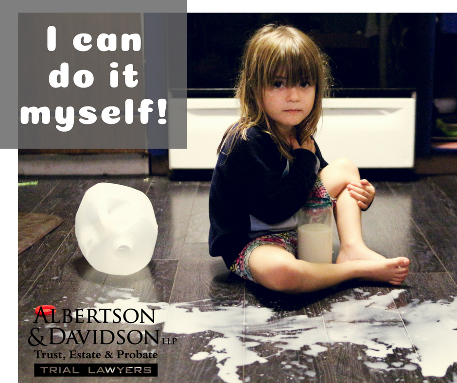 I can do it myself caption on photo of child in the kitchen