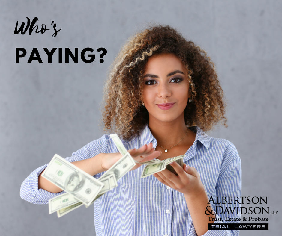 """Woman tossing money to represent the question """"who's paying for this?"""""""
