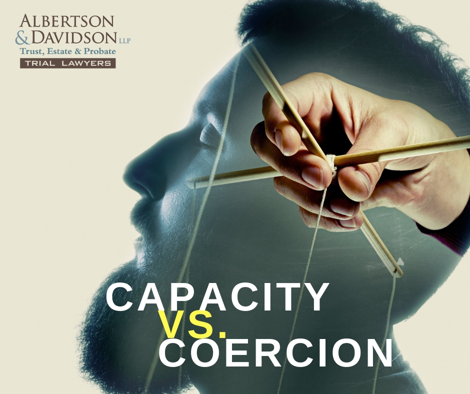 capacity vs coercion image of someone's head