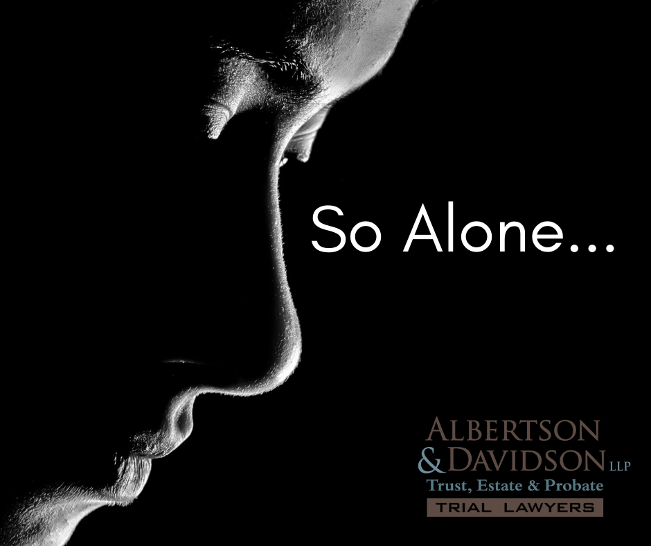 image of person alone