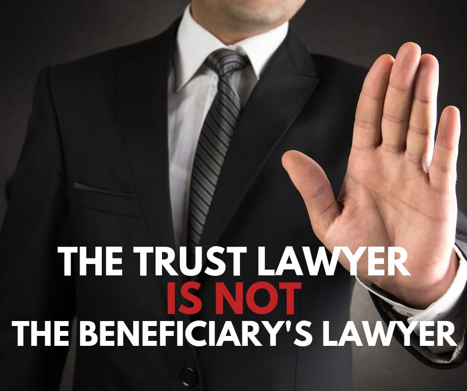 Trustee Lawyer shouldn't defend beneficiary
