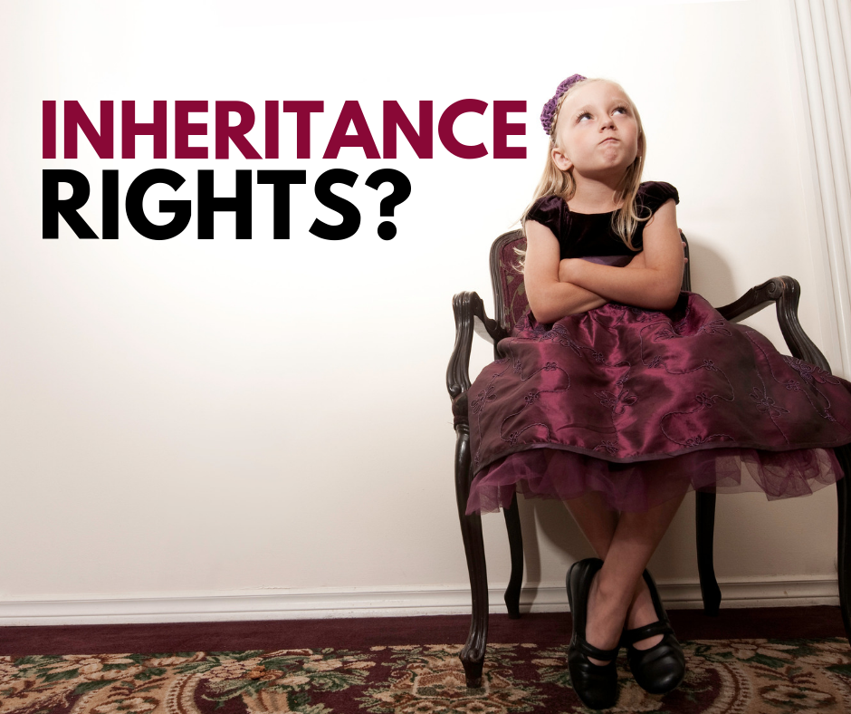 Do children of the deceased automatically inherit their parent's assets?